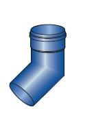 Koleno modrý plast 45st