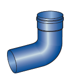 Koleno modrý plast 87st