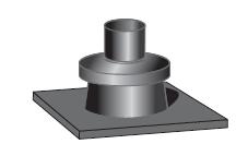 Krycí deska kominu pro kondenzační kotle