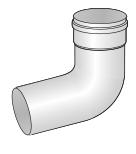 Koleno bílý plast 87st