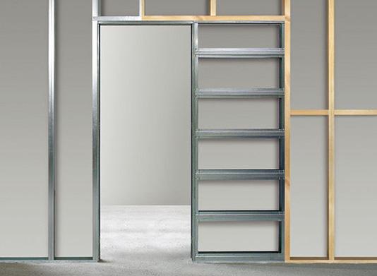 Stavební pouzdra pro posuvné dveře do sádrokartonu SDK