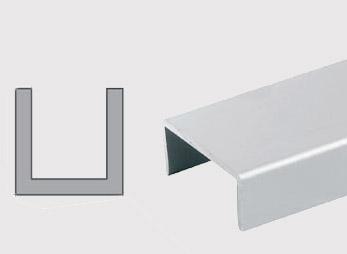 Konstrukční hliníkové U profily