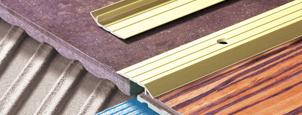 Náběhové podlahové přechodové lišly