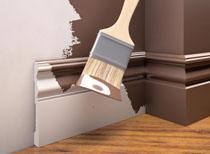 Přetíratelná elegantní podlahová soklová lišta