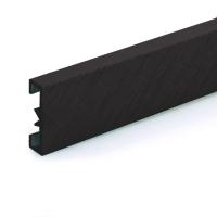 Dekorativní listela eloxovaný hliník karbon 25x7mm 2,7m
