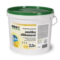 Mistral omítka silikon 2H TB - pastovitá silikonová omítka tónovatelná 25 kg