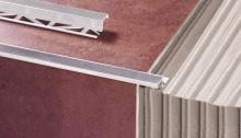Schodová lišta k dlažbě Z profil Cezar eloxovaný hliník zlatý 10mm 2,5m