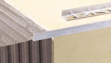 Ukončovací L profil Cezar hliník eloxovaný stříbrný 10mm 2,5m