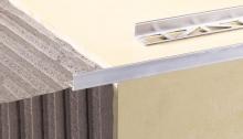 Ukončovací L profil Cezar hliník eloxovaný stříbrný 15mm 2,5m