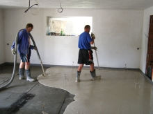 Lití anhydritové podlahy