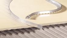 Lišta ukončovací L profil Cezar ohýbací přírodní hliník 8mm 2,5m