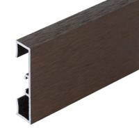 Podlahová soklová lišta Profilpas hliník kartáčovaný hnědý 40 mm 2 m