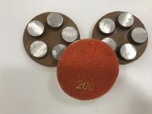 Diamantový 5-bodový brusný nástroj zrnitost 200 (suchý zip) pro broušení betonu, terrazza a žuly