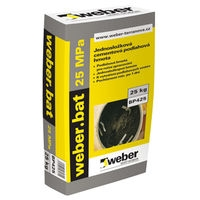 Jednosložková cementová podlahová hmota Weber bat jemný 25MPa 25kg