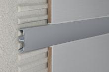 Lišta do obkladů dekorační dělící AL eloxovaný stříbrný, 25 mm, 2,7 m