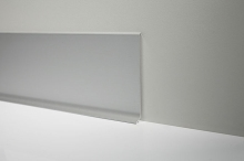 Podlahová soklová lišta AL profil 40 mm titan broušený 2 m