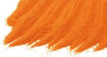 Křemičitý písek barevný jasně oranžový 0,4-0,8mm 25kg