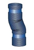 Komínová ohebná vložka flex pro kondenzační kotle
