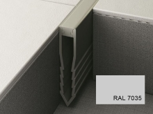 Šípová dilatační lišta do betonu Profilpas Projoint NF plastová šedá 35mm 2,7m