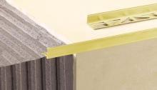 Lišta ukončovací L profil Cezar eloxovaný hliník zlatý 12,5mm 2,5m