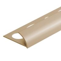 Obloučková ukončovací lišta otevřená Cezar pvc béžová 7mm 2,5m