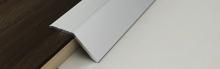 Náběhová lišta Profilpas Prolevel hliník samolepící 44x12 mm 0,9 m stříbrná