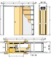 Pouzdro pro posuvné dveře do SDK 205mm Eclisse Teleskop