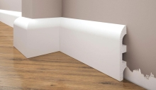 Cezar Elegance podlahová soklová lišta 98x17,7 mm 2,44 m bílá