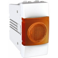 Indikační kontrolka UNICA, 1 modul, oranžová (Polar-Bílá)