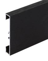 Podlahová soklová lišta Profilpas hliník kartáčovaný tmavě hnědý 60 mm 2 m