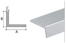 Vingl Cezar eloxovaný hliník stříbrný 40x20x2mm 2m