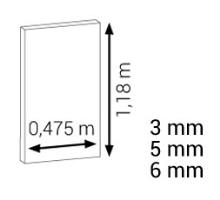 Podložky pod plovoucí podlahy Expert Eko Matt tloušťka 5,5 mm 0,475 x 1,18 m