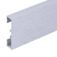 Podlahová soklová lišta Profilpas hliník kartáčovaný platina 40 mm 2 m