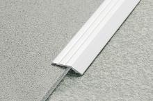 Náběhová lišta hliník samolepící 44x12 mm stříbrná 2,7 m