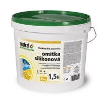 Mistral omítka silikon 1,5H TB pastovitá silikonová omítka 25 kg