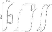 Cezar DUO  kabelový kanál, PVC, 59mm, dub jasný, dekor 068