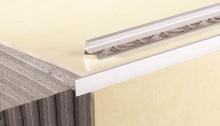 Schodová lišta pro dlažbu Cezar eloxovaný hliník stříbrný 10mm 2,5m