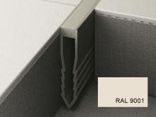 Šípová dilatační lišta do betonu Profilpas Projoint NF plastová krémově bílá 25mm 2,7m