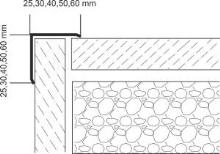 Vingl nerez vysoký lesk oboustranný příhyb 50x50x1mm 2,5m