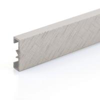 Dekorativní listela eloxovaný hliník titan 25x7mm 2,7m