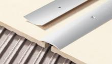 Přechodová lišta Cezar vrtaná 40mm 1m stříbrná
