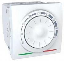Schneider Unica termostat podlah otočný s čidlem 2mod 10A kabel 4m Polar