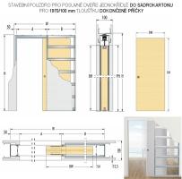 Pouzdro pro posuvné dveře Eclisse do SDK 100mm jednokřídlé