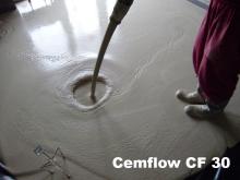Litý cementový samonivelační potěr cemflow CF 30