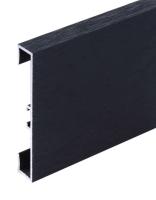 Podlahová soklová lišta Profilpas hliník kartáčovaný karbon 60 mm 2 m