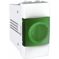 Indikační kontrolka UNICA, 1 modul, zelená (Polar-Bílá)