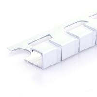 Čtvercový ukončovací profil Profilpas elox platina vzor čtverec kartáčovaný 10mm 2,7m