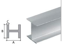 H profil Cezar eloxovaný hliník 18,5x17x1mm 2m