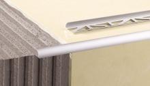 Obloučková ukončovací lišta otevřená Cezar eloxovaný hliník stříbrný 10mm 2,5m
