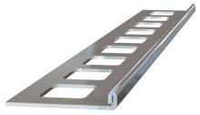 Ukončovací L lišta nerez kartáčovaná 12,5mm 2,5m